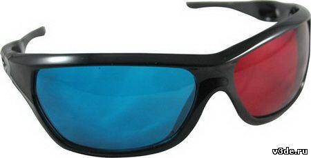 Анаглифные красно-синие очки
